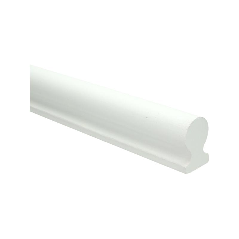 Trapleuning wit gegrond sleutelgat 40x60 mm 350cm 0