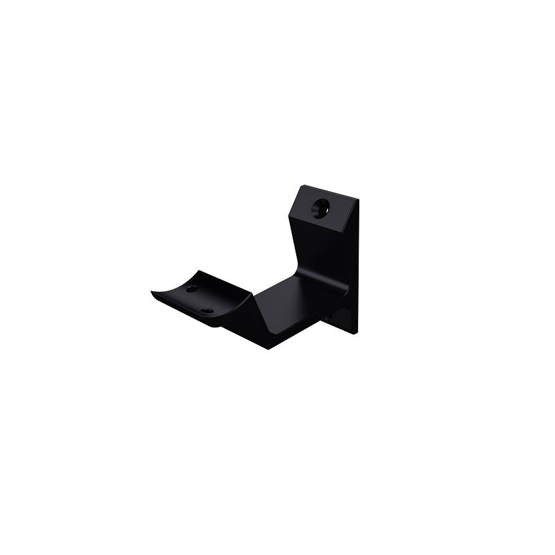 Leuninghouder hol modern zwart - hout/gipsplaat 0