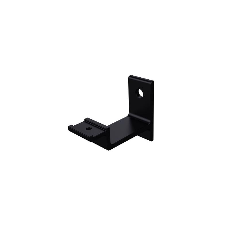 Leuninghouder vlak modern zwart - beton/steen 0