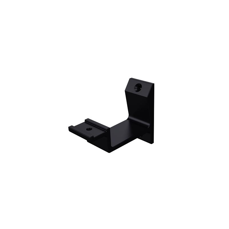 Leuninghouder vlak modern zwart - hout/gipsplaat 0
